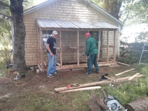 Constructing a lean-to for the back of the garage